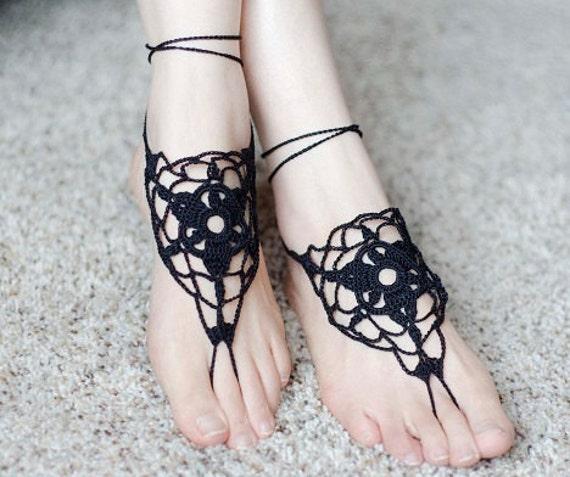 Crochet Barefoot Sandals Barefoot Sandals Pattern Beach Etsy Classy Barefoot Sandals Pattern