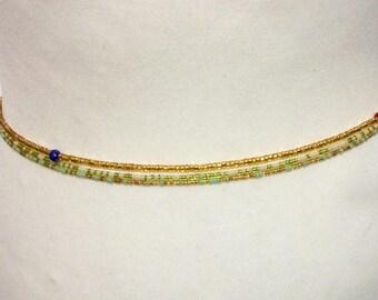 Waist beads,  3 X African beads