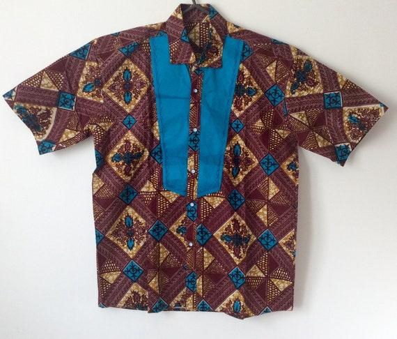 Chemise imprimé africain, Ankara shirt, chemise, chemise cire
