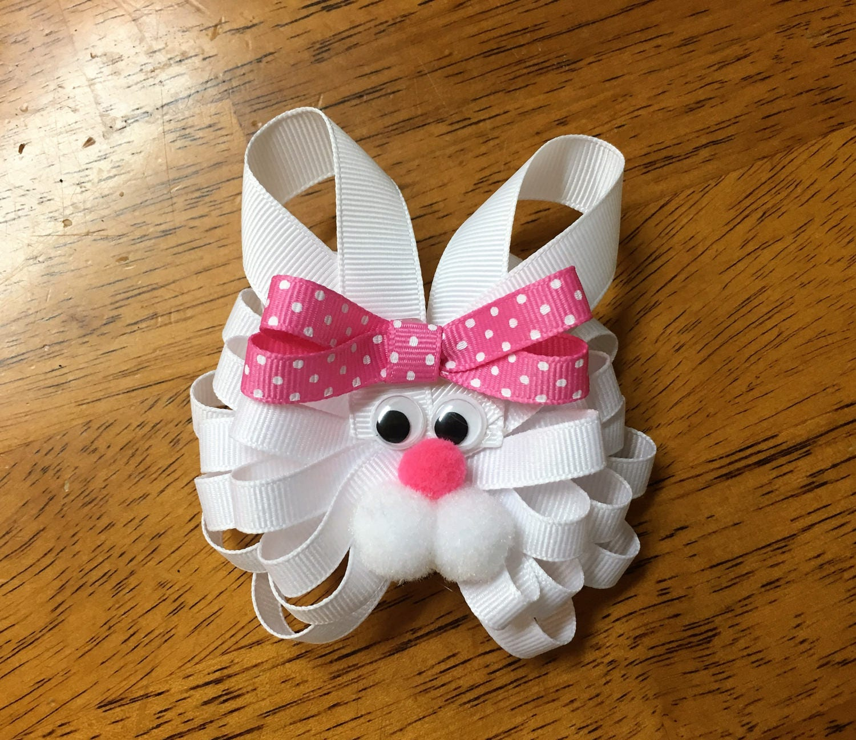 Easter Girls Loopy Flower Hair Bow Easter Cutie Hair Bow