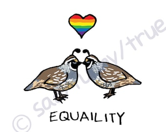 Equaility - Queer Pride Animal Series