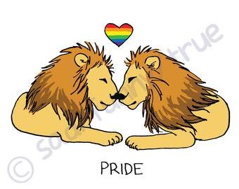 Pride Lions - Queer Pride Animal Series