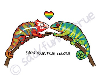 Show Your True Colors - Queer Pride Animal Series