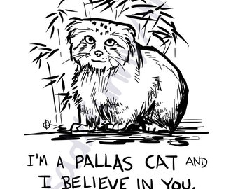 "Motivational Pallas Cat - 11 x 14"" Print"