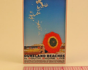 1920s South Shore Line 3D Poster Magnet