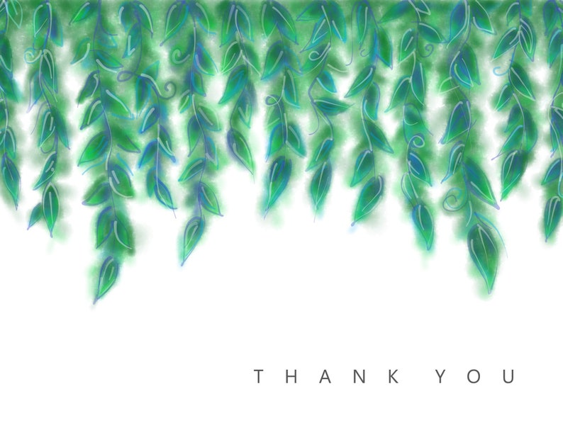 Thank You Card  E Thank You Card  Print Your Own Card  Holiday Thank You  Birthday Thank You  Digital Download  All Occasion Thank You