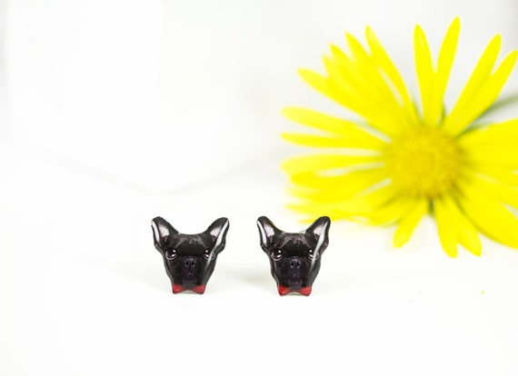 French Bulldog Stud Earrings