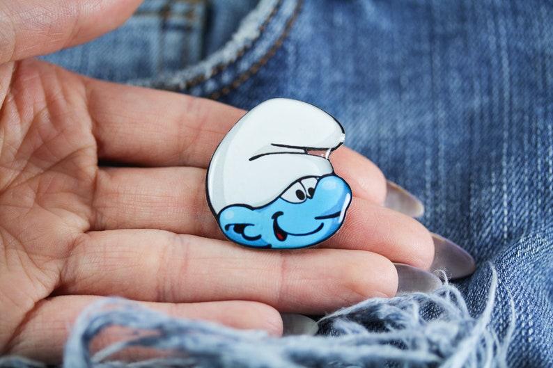 0626dd8e3 Smurf pin The smurfs jewelry Smurfs lover gift Smurf brooch | Etsy