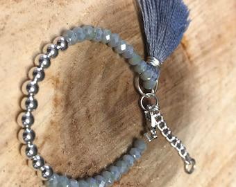 Beaded Bracelet with Tassel