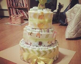 Mellow Yellow Ellie Diaper Cake