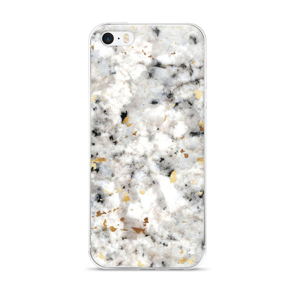 new style 5015e f809a Classic Marble with Gold Specks - Black White - Phone Case - iPhone 6 6s 7  8 Plus X