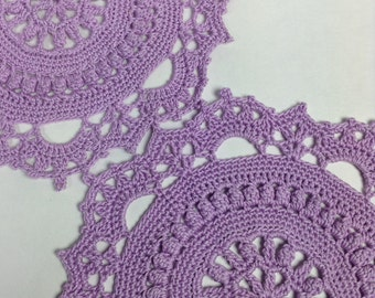Small Lavender Doilies - set of 2 (#01-06-4)