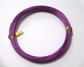 10 m purple aluminum wire dark 1 mm reel