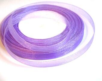 5 m organza Ribbon purple 10mm