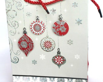 1 pouch bag pattern grey Christmas gift Christmas ball with 18 x 24 x 8 cm