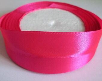 10 m 20mm fuchsia colored satin ribbon