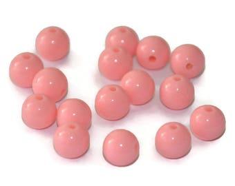 10 8mm pink acrylic beads