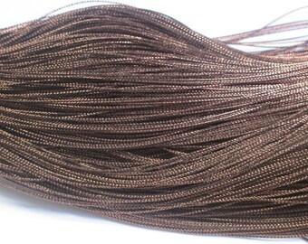 20 m braided Brown wire 0.8 mm