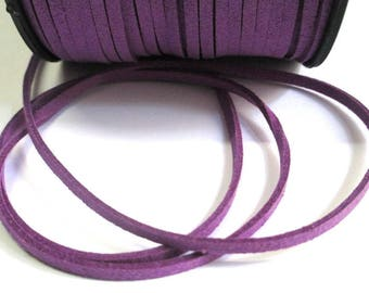 1 m look purple suede 3 mm suede cord