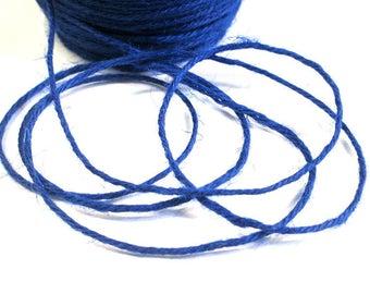 5 m blue 2mm hemp cord
