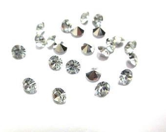 100 size 4mm diamond shaped resin rhinestones