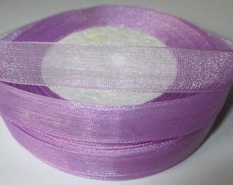 5 m organza Ribbon Purple 12mm