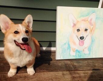 18x18 Pet Portrait