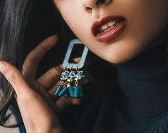 Bold Statement Jewelry | Spring Floral Earrings | Bohemian Flower Earrings | Flower Jewelry | Dangle Earrings | Boho Earrings