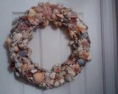 "Beautiful Large Stylish Beachy Coastal Handmade Summer Seashell Ocean 12"" Wreath"