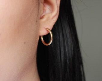 Gold Hoop Earrings - 14K Gold filled hoop - Gold hoop - Thick Gold Hoop - Gold Earrings - Gold Filled Earrings - Hoop Earrings