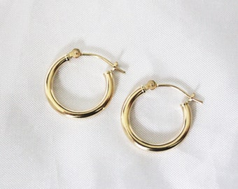 14k Solid Yellow Dangle Earring Jackets For Studs 2447S Made In USA