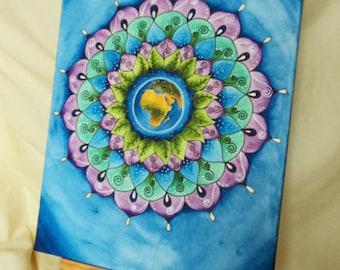 Mandala Picture Earth 30 x 40 cm