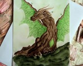 Dragon map quot Earth Forest Dragon quot incl. envelope