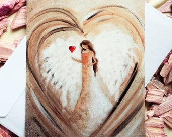 """Angel card """"Angel in the heart"""" incl. envelope"""