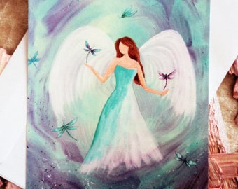 "Angel card ""Libelle"" incl. envelope"