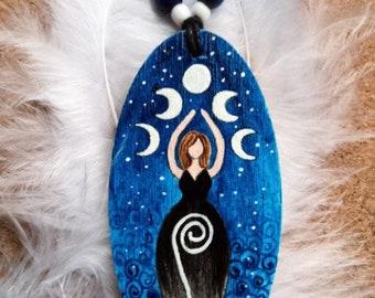"Goddess Amulet ""Moon Goddess Blue"""