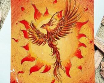 "Power animal card ""Phoenix"" incl. envelope"