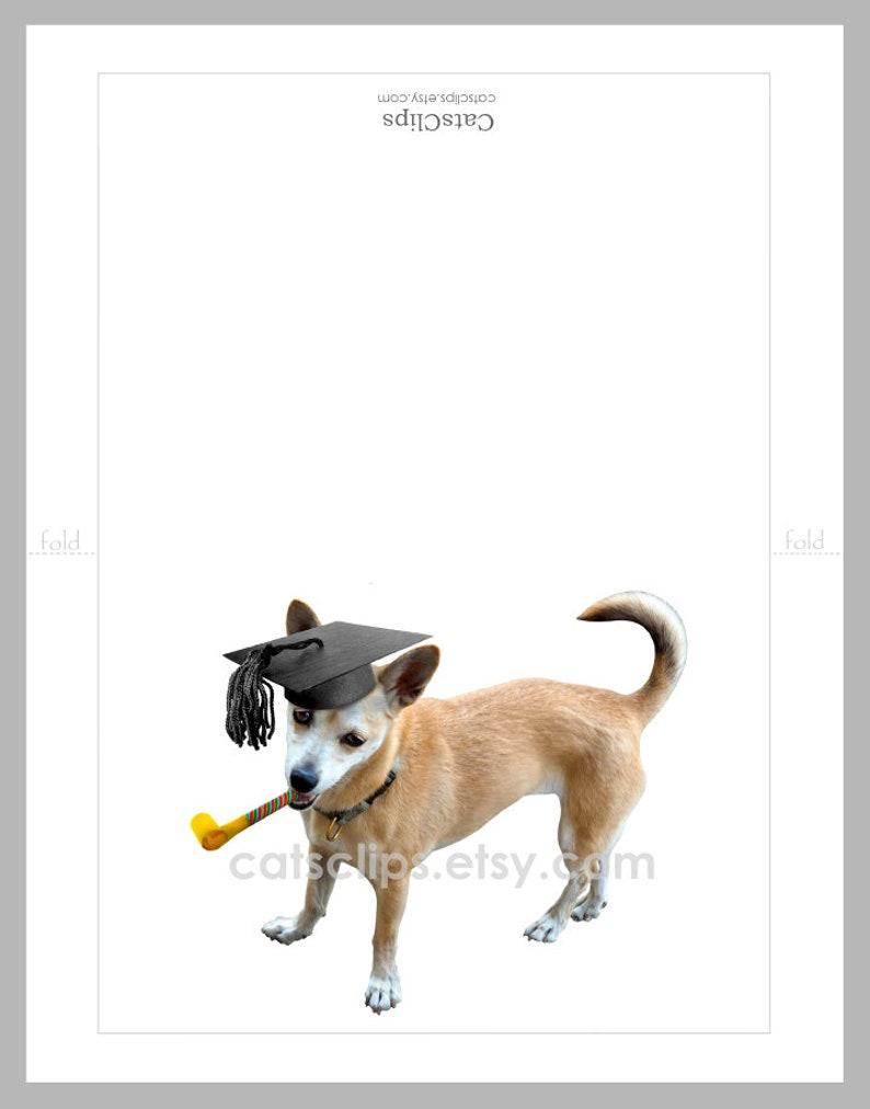 Printable Dog Graduation Card