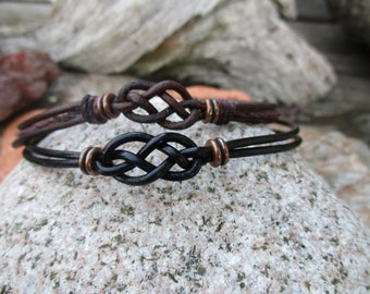 His and Hers Forever Couple Bracelets Anniversary gift Distance Personalized Matching Bracelet WC001163 Love Knot