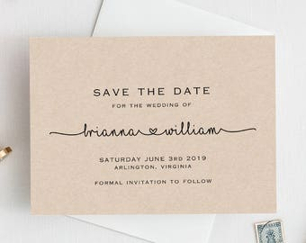 Save The Date Printable Template