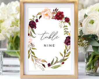 floral table names etsy