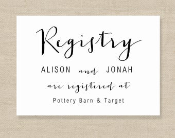 wedding registry card template gift list printable gift registry template editable wedding registry card color editable in ms word - Wedding Registry Cards