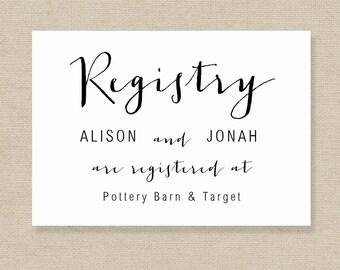 diy registry cards etsy
