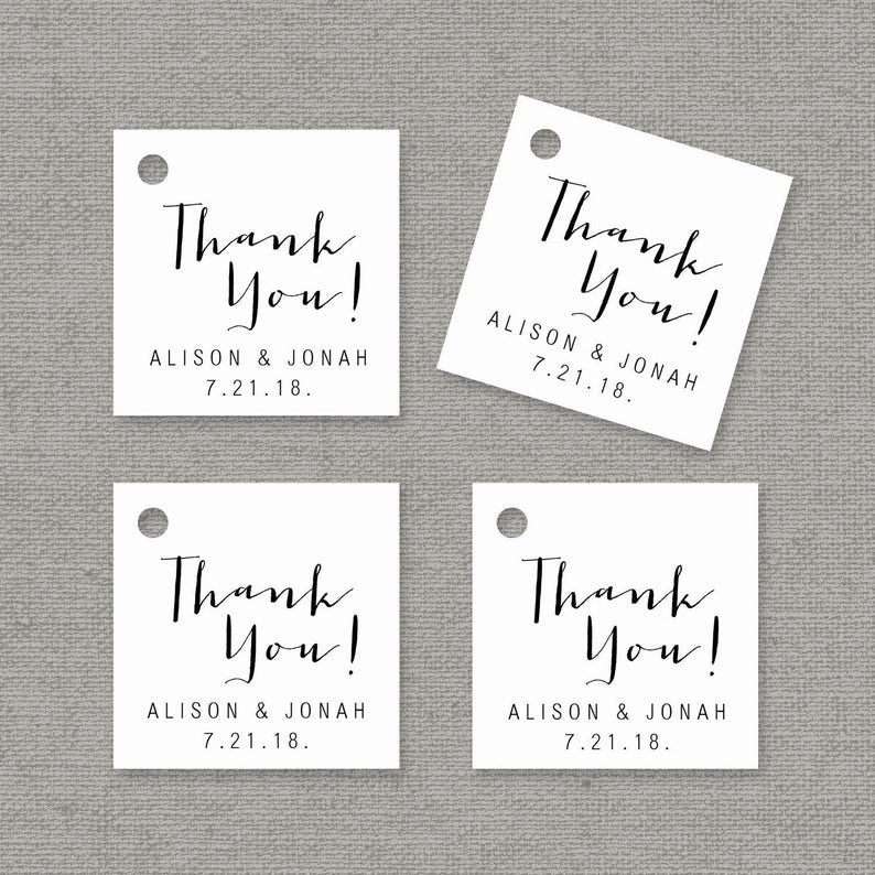 Thank You Tag Template Printable Wedding Favor Tags Etsy