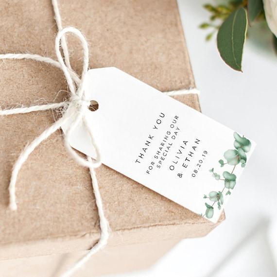 Greenery Favor Tag Printable Template Wedding Favor Tag Template