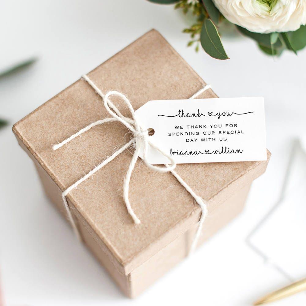 Wedding Favor Tag Printable Template Editable Thank You Gift