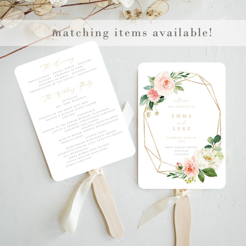 Geometric and Floral Wedding Save the Date Invitation Printable Template Editable Boho Save Our Date Card Emma