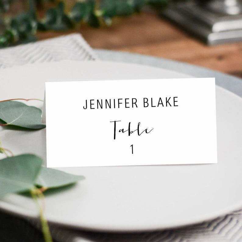 Escort Card Template Printable Wedding Place Card Editable Escort Card Tent Place Cards Rustic Escort Cards Print On Kraft