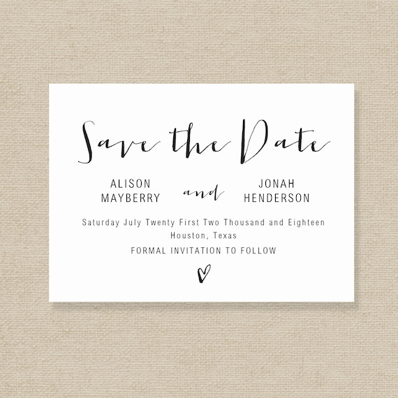 microsoft word save the date template