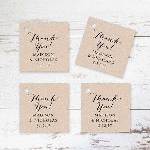 Printable Favor Tag Template Rustic Wedding Favor Tags Etsy